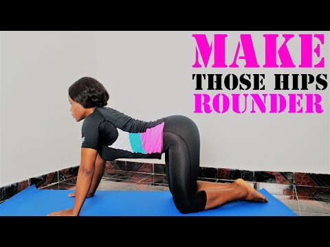 How to Get Bigger hips|4 Easy Exercises for Wider Hips | Widen Your Hip Muscles
