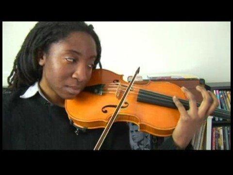 Violin Tuning : Violin D Harmonic