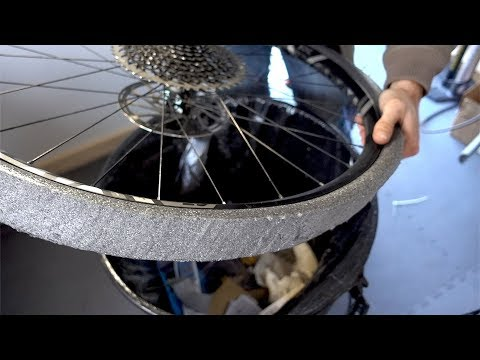 Frugal foam flat protection (Cheapo Cush Core / Hokey Huck Norris / Funky Flat Tire Defender)