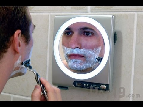 Fogless Shower Mirror with LED Light and 5X Magnification