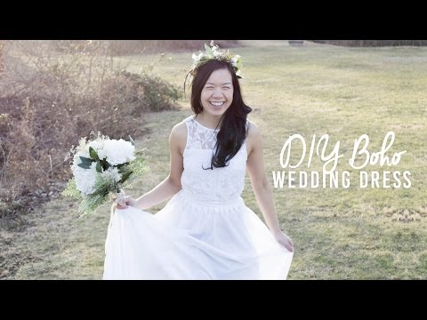 DIY Boho Wedding Dress | Under $50