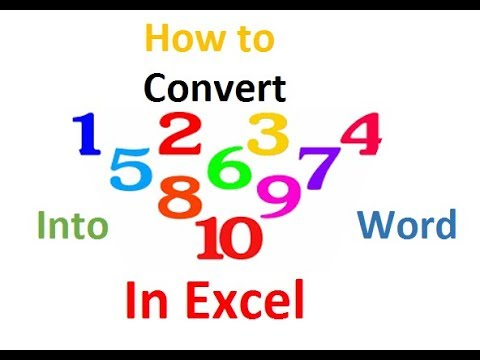 How to convert Number Value into word in excel