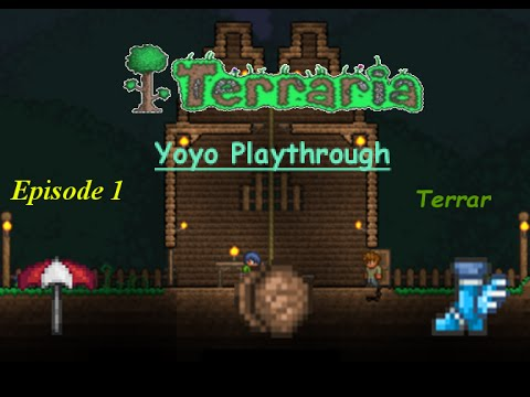 Terraria Yoyo Story Playthrough | Exploration, Wooden Yoyo, and Shelter | Episode 1