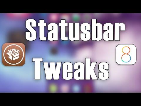 StatusBar Tweaks iOS 8 | Cydia