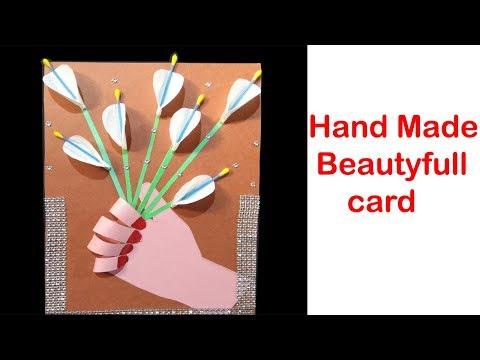 Beautiful Handmade Flower Bouquet Card/creative art/ DIY Art and Craft/Diy Paper Flower Bouquet