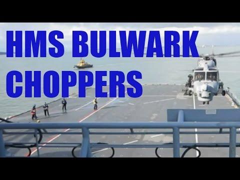 CRHnews - 4/5 HMS Bulwark + Maritime Combat Power CHOPPERS 2011