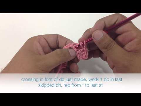 How to Crochet the Cross Double Crochet Stitch