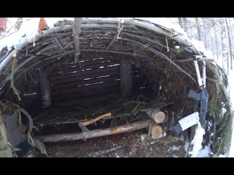 Arctic Forest Shelter. The Woodsmans Bed