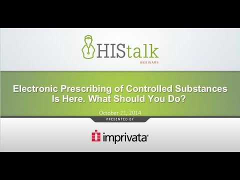 Electronic Prescribing of Controlled Substances Is Here.  What Should You Do?