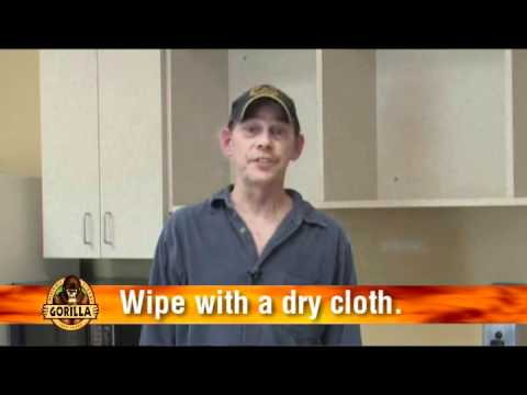 Cleaning Gorilla Glue off of your hands