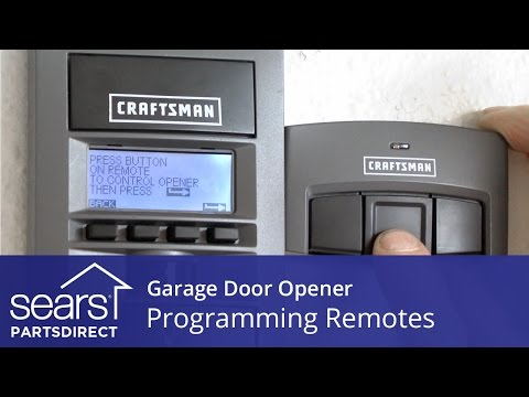 Programming Garage Door Opener Remotes