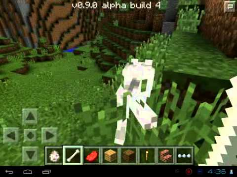 Minecraft PE 0.9.0 Beta- How to Tame a Wolf