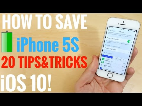 How to save battery life iPhone 5S iOS 10