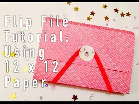 Flip File Tutorial!! // Using 12x12 Paper