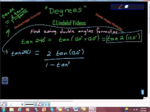 Double Angles Formulas tan of 240 Degrees