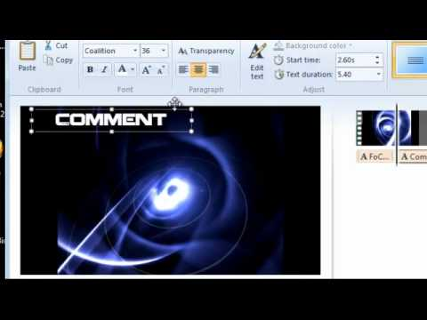 How to make an Amazing intro with Movie Maker