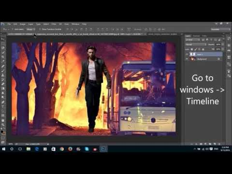How to make a GIF (ANIMATION) in Photoshop CC