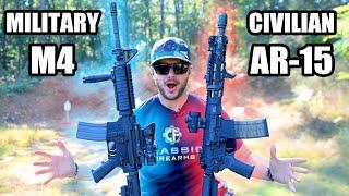 Military M4 Clone vs Civilian AR-15