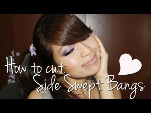 How to Cut Side Swept Bangs Fringe