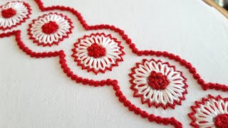 New Floral Border Design for Dress/Kurti (Hand Embroidery Work)
