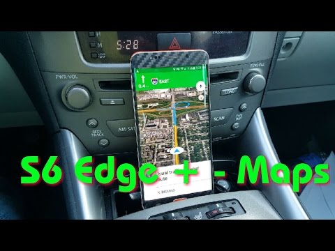 Navigation Google maps - Galaxy S6 Edge +