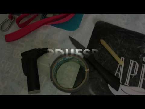 How to make home made dog lead self made dog leash with nylon strap DIY