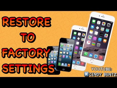 How to restore iPhone 5 5c 5s 6 6 plus to factory settings without iCloud password.