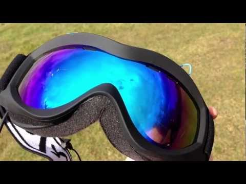 Raspberry Pi based Heads Up Display (HUD) snowboard goggles - view through goggles