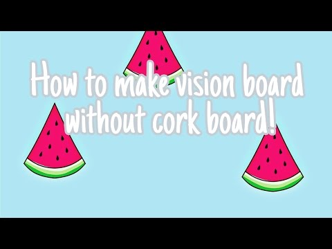 HOW TO MAKE VISION BOARD WITHOUT CORK BOARD | ANY STYLE!! _ Gunjan Chavan