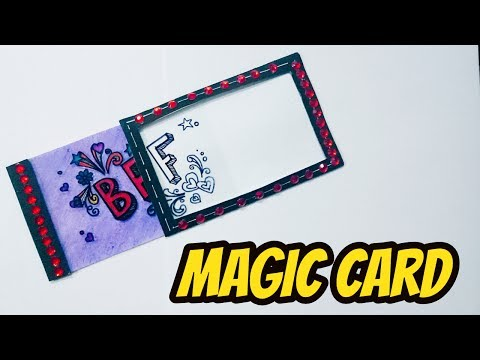 how to make cards for friends \cards for friendship day \ diy magic card for friendship day