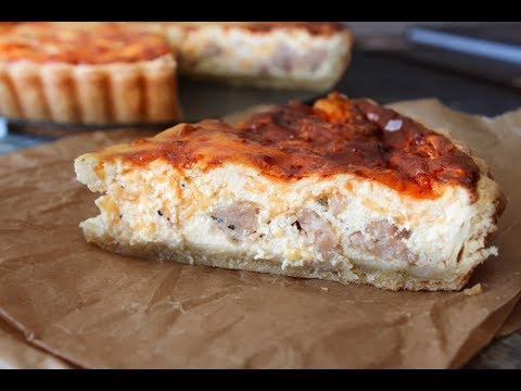 How To Make Quiche With Sausage, Cheese And Jalapeño - Fast Food Friday - By One Kitchen