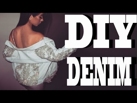 DIY CRYSTAL DENIM JACKET
