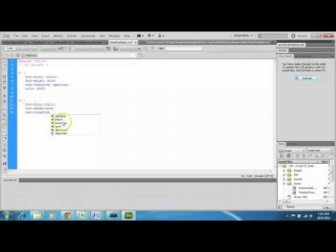 Dreamweaver CS5   Create and attach a stylesheet