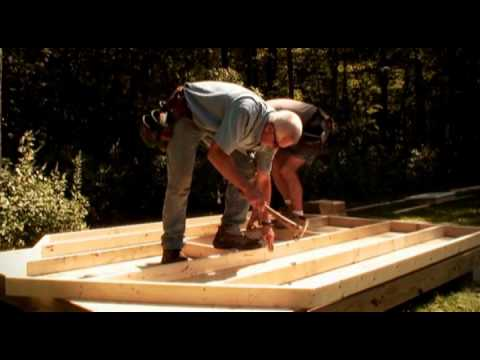 Framing the Walls of a Shed