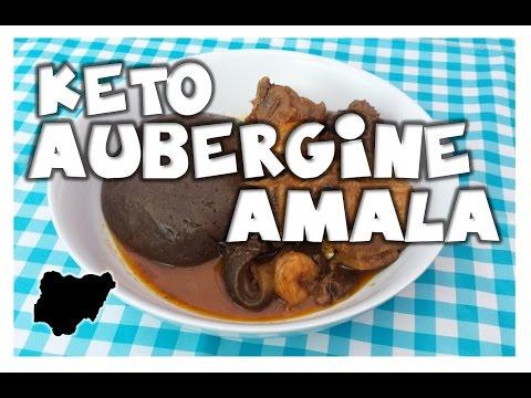 Ketogenic Nigerian Style. How to make Aubergine Amala Fufu Swallow with soup  MakeItWithChichi Ep6