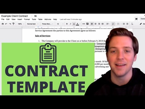 Sales and Service Agreement (Free Client Contract Template)