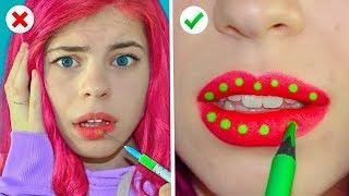 Funny and Useful Beauty Hacks! (Awkward Situations)