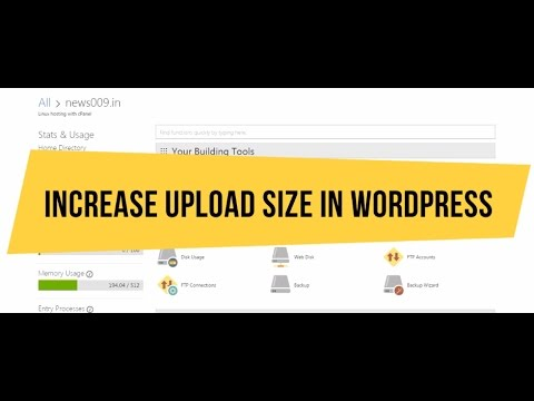 How To Increase Godaddy Wordpress CPanel Upload File Size