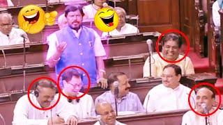Ramdas Athawale Funny Comments On Congress Party | Rajya Sabha | Parliament Session | Mango News