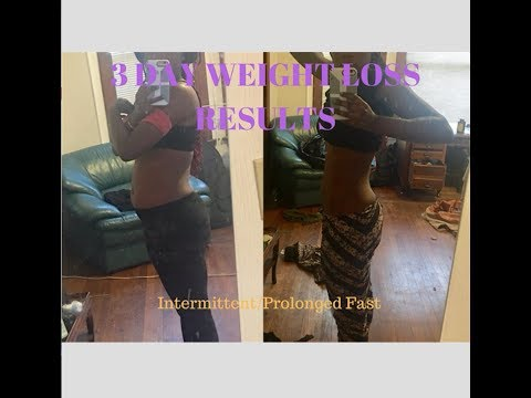 Before and After | 3 day Quick Weight Loss | Fasting?