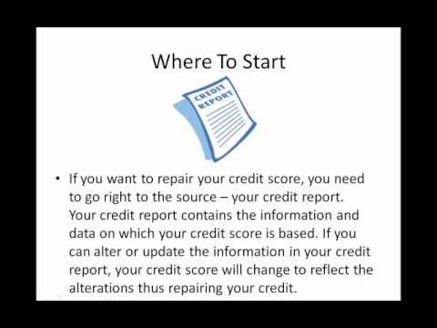 Repair Your Credit - How To Fix Your Credit Score Fast
