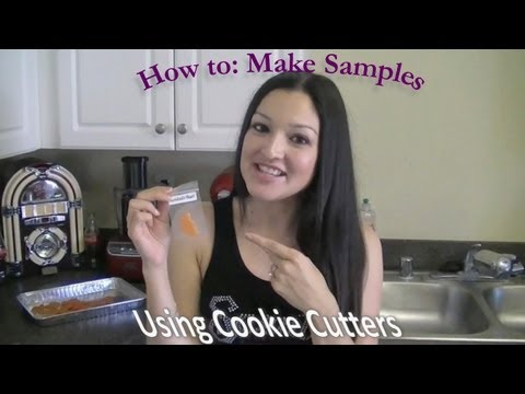 How to: Make Scentsy samples w/ cookie cutters!