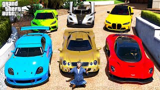 GTA 5 - Stealing 2021 LUXURY Vehicles with Michael! (Real Life Cars #102)
