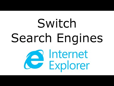 Change Default Search Engine - Internet Explorer