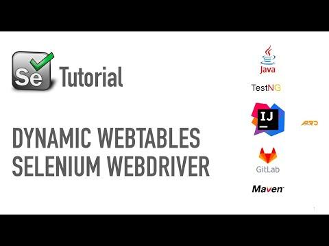 Tutorial | Dynamic WebTable | Dynamic XPath | Selenium WebDriver | Dec 2017