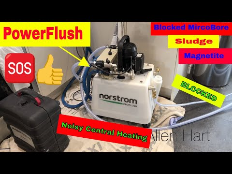 Powerflushing Blocked Microbore Copper Pipe Day in the life of a Plumber