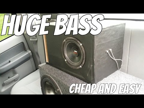 How To: Cheap and Easy Subwoofer Box!