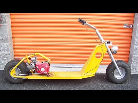 How to make a kick scooter chainsaw bike - part 1
