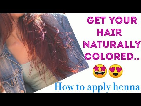Naturally colour your hair BURGUNDY,How to apply henna..