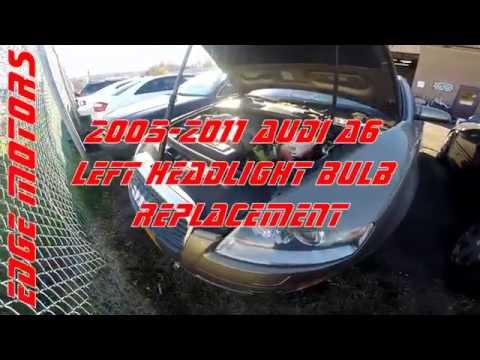 2005 - 2011 Audi A6 left headlight bulb replacement by Edge Motors